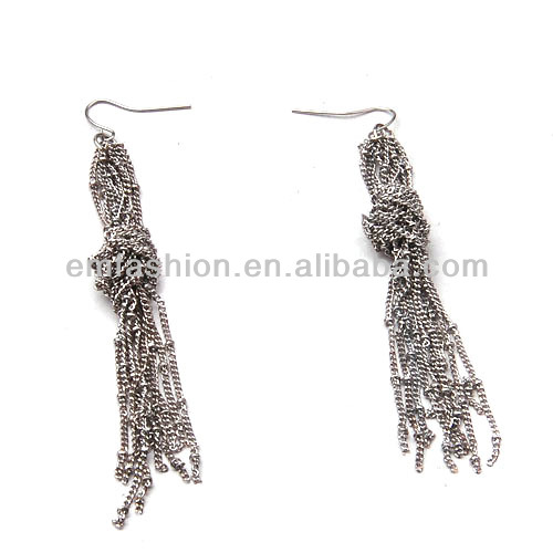 Fashion Vintage Long Chain Knot Tassel Earring For Women And Girls