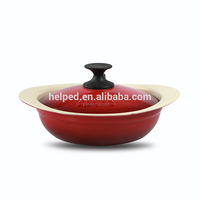Korea cast iron enamel red cookware cooking hot stewpot pot