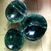 Cheap Price! Natural Green Fluorite Quartz Crystal Carving Energy Bowl For Healthy Healing