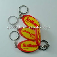 Promotion gifts-soft pvc key chain/3d double-sided soft pvc keyring