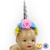 Baby Gift Girls Unicorn Headbands Children Floral Design Toddler Princess Party Hair Accessories