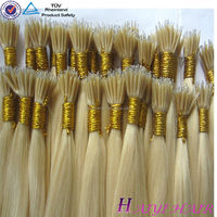 Professional hair factory big discount wholesale price nano ring hair russian no split end