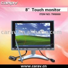8 Inches VGA Touchscreen Desktop Car TFT-LCD Monitor with Touch Screen for Car PC or GPS Navigation