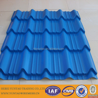Colorful Corrugated Metal Sheet / China Quality Stone Coated Steel Roofing Panels / Sand