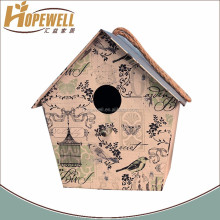 hanging barn finch birdhouse decor , painted country birdhouses