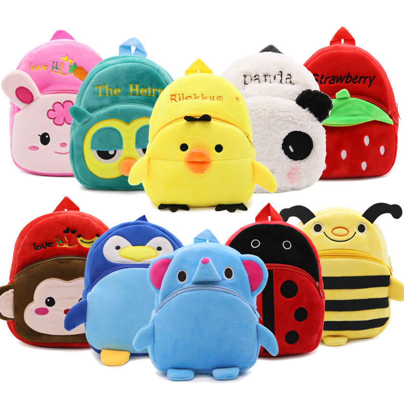 kids plush animal backpack toddler cartoon <strong>bag</strong>