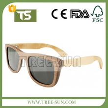 TREE-SUN wooden bamboo sunglasses temples classic Aviator retro square wood sunglasses