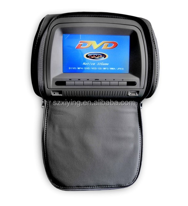 7'' headrest car dvd with zipper cover