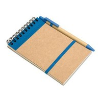 Custom Writing spiral memo pad with pen