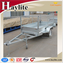 7*4 ft metal strong box trailers with mesh cage