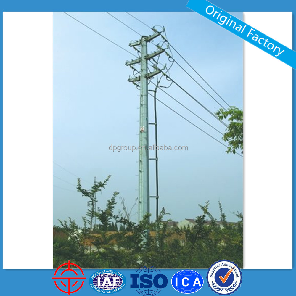 10KV Suspension Galvanized Transmission Line Steel Power Pole