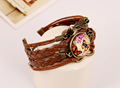 New arrival brown leather braided bracelet for women