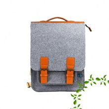 Ultra thin genuine leather zipper closure document organization 15inch backpack laptop bags for iphone