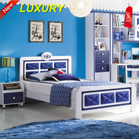 355-foshan shunde furniture of pu leather kids cartoon bed