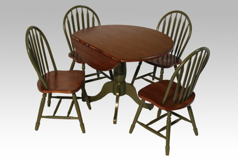DROP LEAF TABLE + ARROW BACK WINDSOR CHAIR