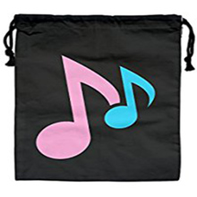 Music Travel Fashion Happy Colourful Simple Linen Drawstring Bag