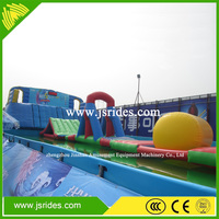 hot sale adult inflatable water obstacle course for sale inflatable floating obstacle racing game