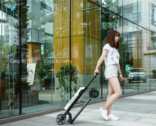 lightweight aluminum alloy foldable kick board electric scooter with LG battery