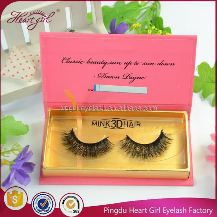 hand made high quality 100% real mink fur eyelashes