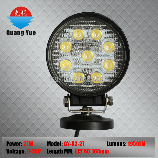 27w auto led driving light ,4'' round 3000lms top sales work light