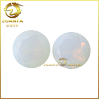 wholesale top quality round brilliant cut white synthetic opal stone