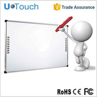 92 inch infrared multi touch smart digital interactive whiteboard with built-in educational software