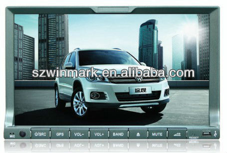 7 inch Universal HD TFT LCD digital touch screen Car GPS DVD with ipod, bluetooth, TV, radio, RDS, steering wheel control, etc