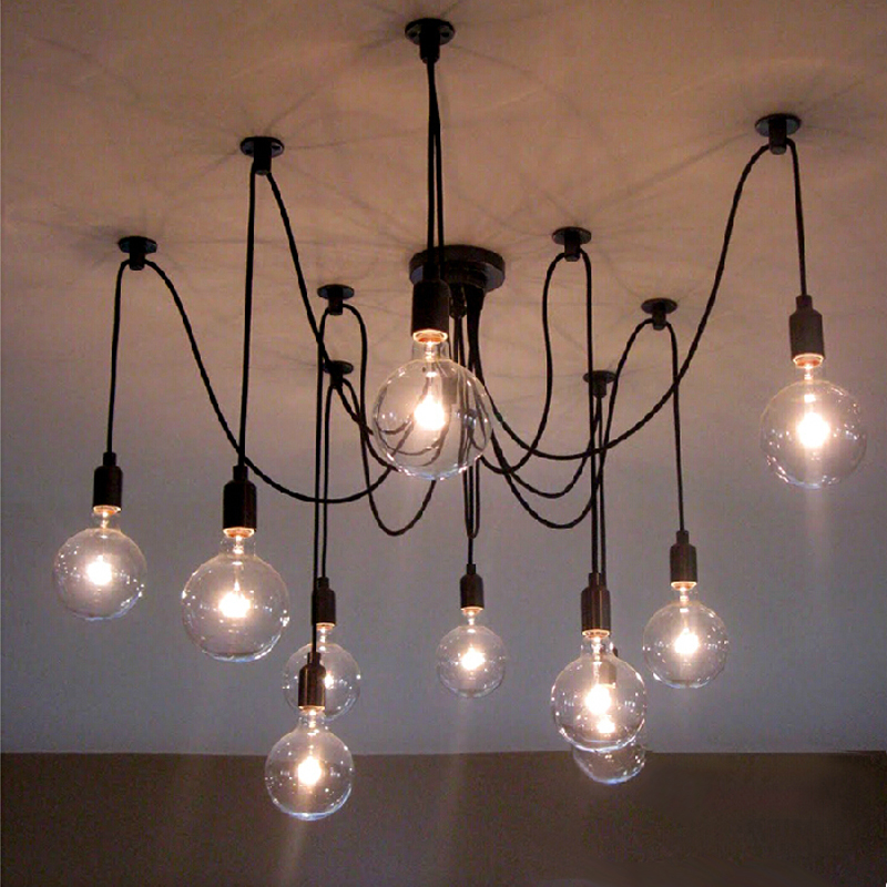 Retro Industrial pendant lamps Creative Heavenly Maids Scatter Blossoms Home Lighting with Vintage Edison Bulbs
