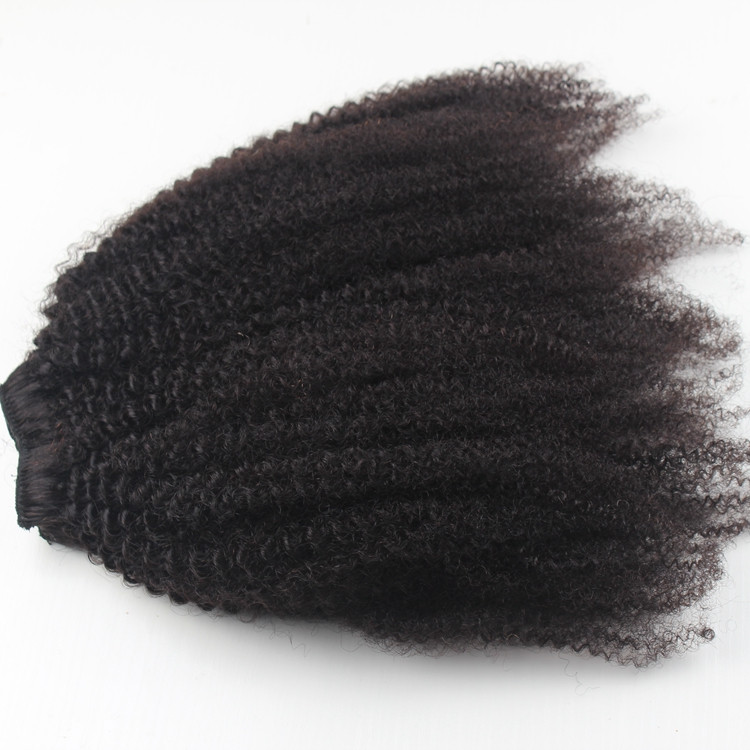 Top quality wholesale afro kinky bulk human hair 100% unprocessed raw indian remy hair