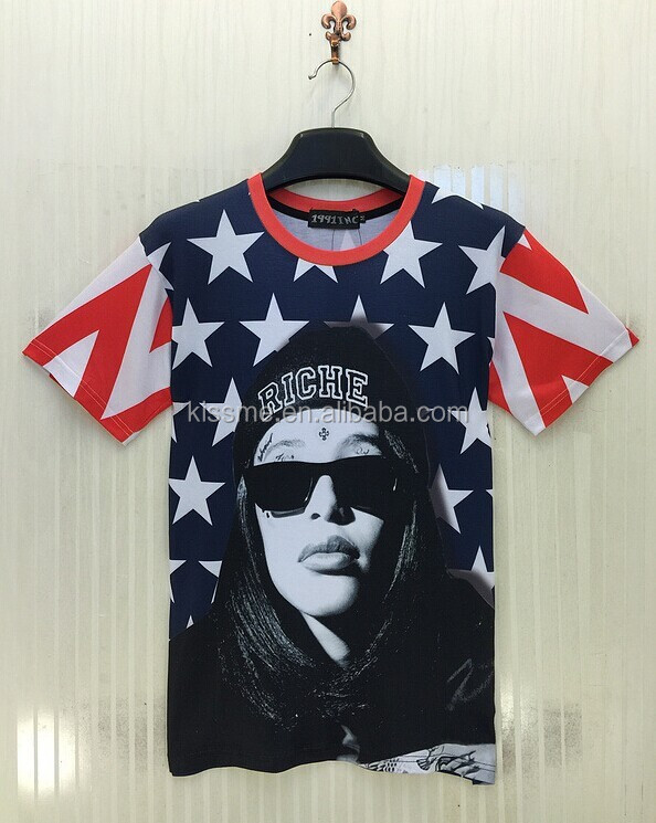 Wholesale 3D T-shirt Sex Girls Photos New Style Polyester Cotton In Stock