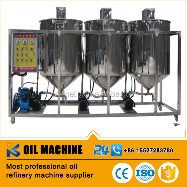 CE approved small rapeseed oil refining machine from China