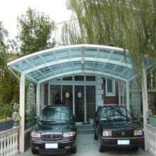 polycarbonate flat roof carport