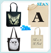 cotton handbag custom fashion tote bag canvas shoulder long strip bag