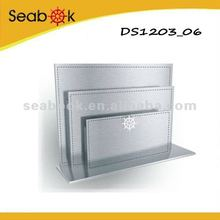 fashion pu desk stacking file tray