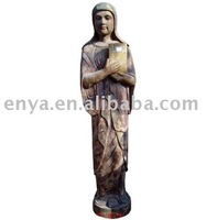 Wood Carving Handicraft, Virgin Mary Figurine, Catholic Statue