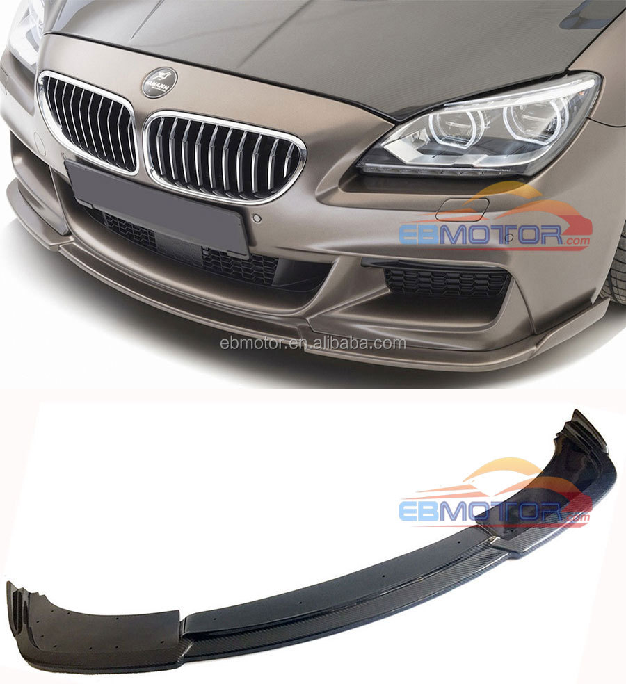 HM Style Real Carbon Fiber Front Lip Spoiler For BMW F06 F12 F13 M-Sport M-Tech Bumper 2014UP B394