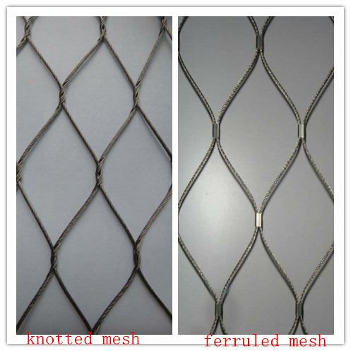 Flexible and long life time 304 316 woven Inox Cable mesh