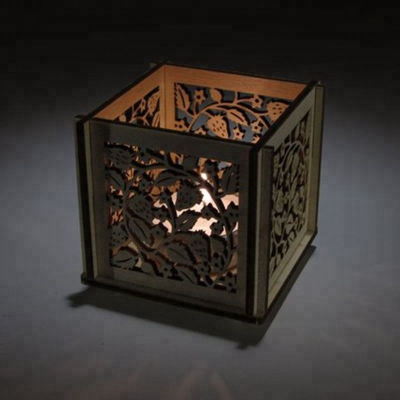 Wooden Tealight Lantern candle holder wooden decorative candle holder