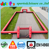 0.9mm pvc outdoor cheap inflatable soccer field customized size&color