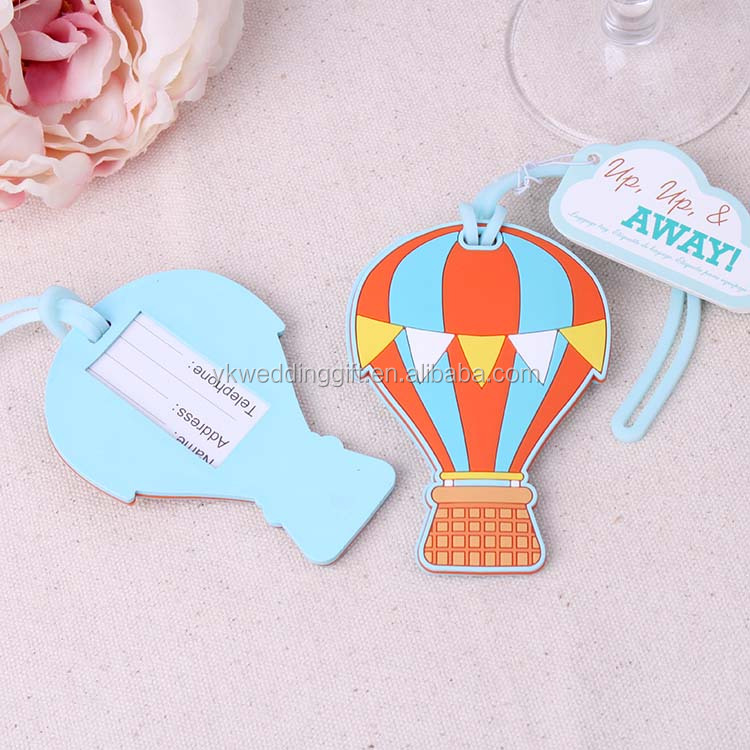 "Travel Wedding Favors ""Up, Up & Away"" Hot Air Balloon Luggage Tag Wedding Baggage Tags Bridal Shower gift wedding"