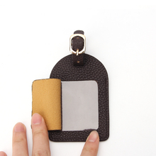 Pu Leather Bag Tag With Privacy Cover Travel Name Baggage Tag