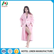 hotel standard soft textile cut velvet bathrobes for spa