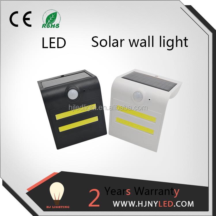 outdoor LED solar sensor wall light solar garden lamp