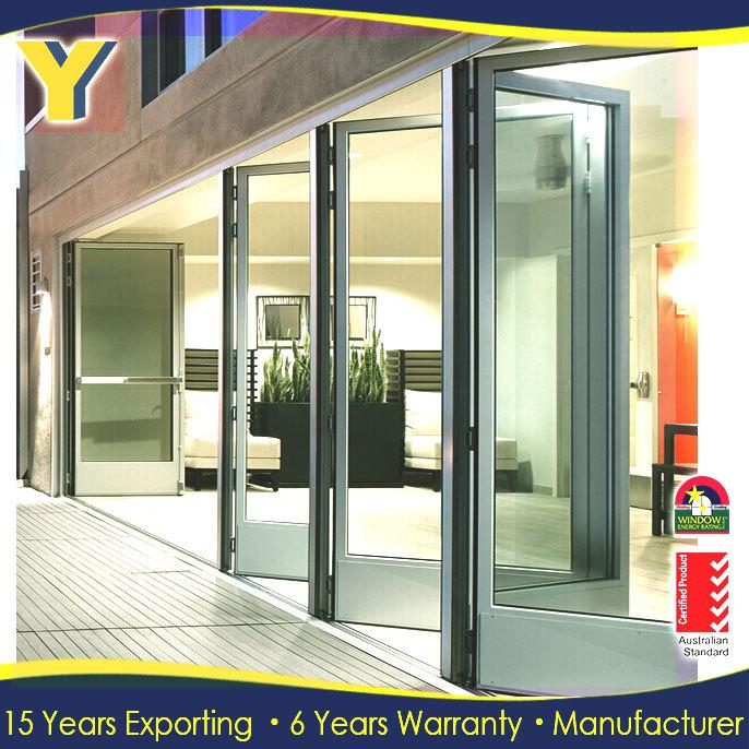 70s aluminum sliding door commercial double glass doors security sliding screen door