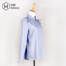 100% Cotton Ladies Long Sleeve Shirt Custom Top & Blouse Manufacturer in China