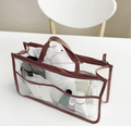 PVC Transparent Middle Cosmetic Organizer Bag Waterproof Clear Pouch Makeup Bags Cosmetic Beauty Accessories Supplies Products
