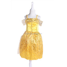 New arrival princess belle costumes kids princess dress fairy tale costume Cheap