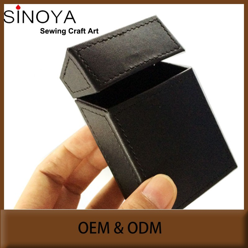 Made in china korea design leather cigarette case slim