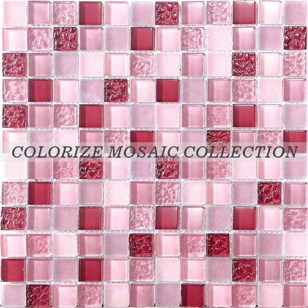 8 mm Crystal glass mosaic tile for bathroom (CM012)