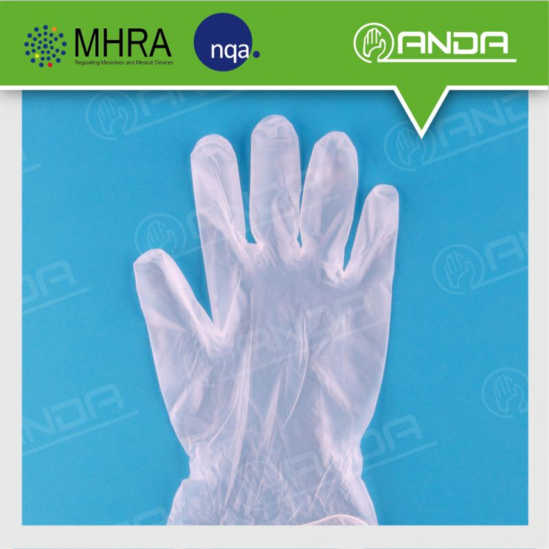 AD004 Import medical supply disposable clear vinyl gloves